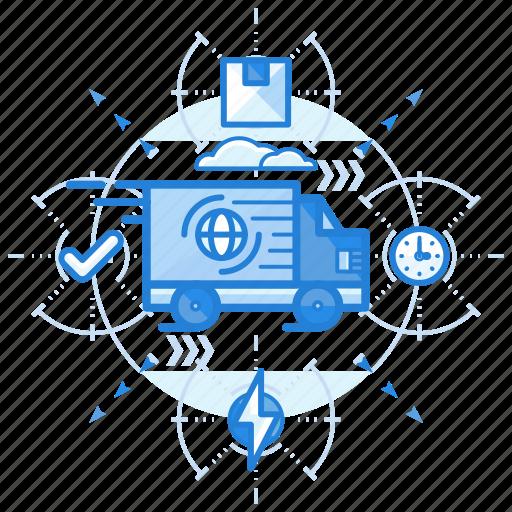 distribution, transfer, transportation icon