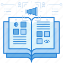 ad, articles, book, magazine icon