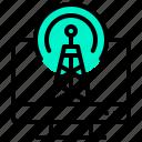 antenna, board, cast, computer, desktop, wireless icon