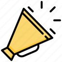 advertising, announcement, megaphone, speaker icon