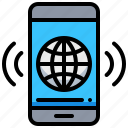 earth, global, smartphone, wireless, world icon