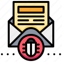 bug, mail, malware, spam, virus icon