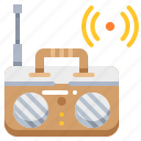advertising, boardcast, radio, technology, wireless icon