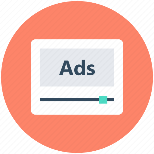 ad content, advertisement, marketing, video ads icon