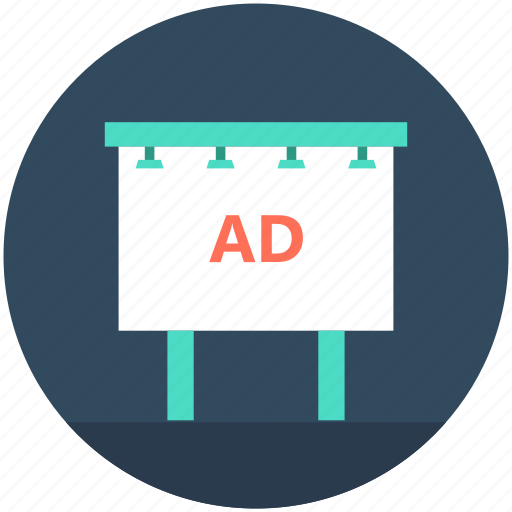 ad board, advertisement, advertising, billboard, signboard icon