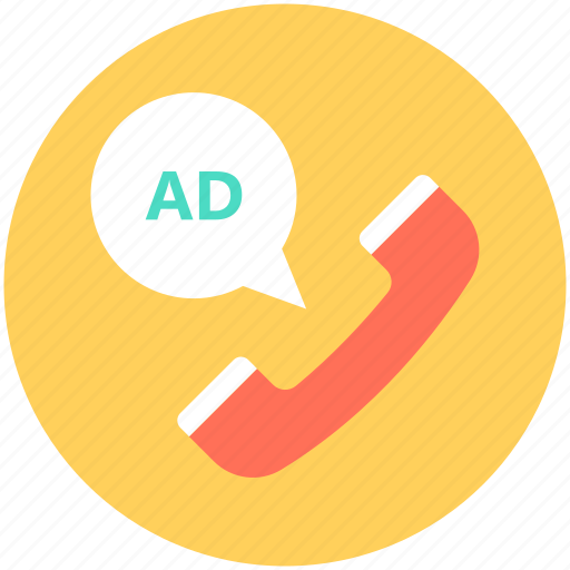 ad, call, phone receiver, receiver, telemarketing icon