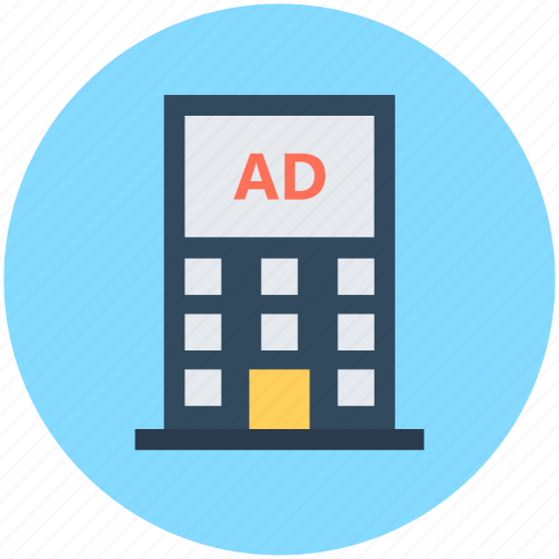 advertisement, building advertising, digital advertising, digital marketing, marketing icon