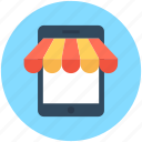 cellphone, mobile phone, mobile shopping, mobile store, shopping app icon