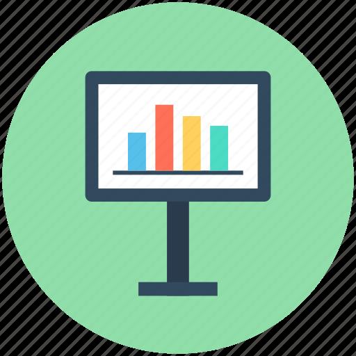 bar chart, bar graph, graph board, presentation, statistics icon