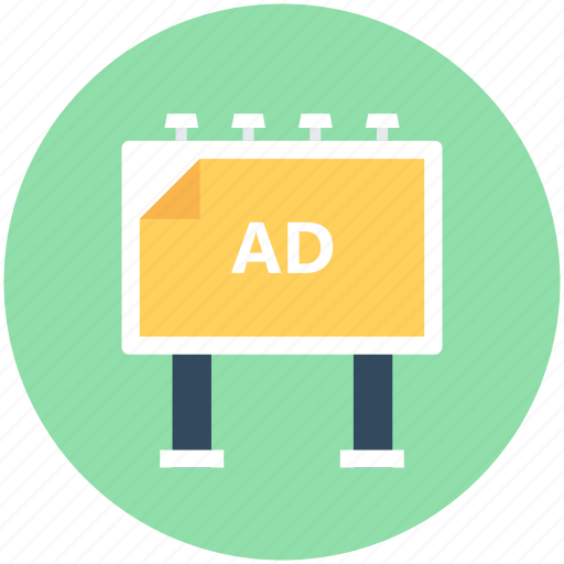 advert, advertisement, billboard, road advertisement, street ads icon