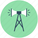 announcement, broadcasting, bullhorn, loud hailer, megaphone icon