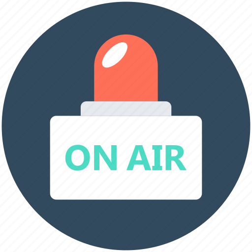 advertising, broadcast, live broadcast, on air, transmission icon