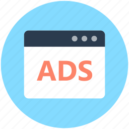 ads, advertise, advertisement, online advertising, web advertisement icon