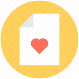 extension file, favorite, file, heart, love letter icon