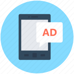 ads, advertising, mobile, mobile advertising, publicity icon