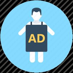 ad, advertising, marketing, marketing agent, personal marketing icon