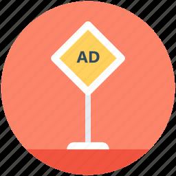 ad board, advertisement, road advertising, road billboard, road signage icon
