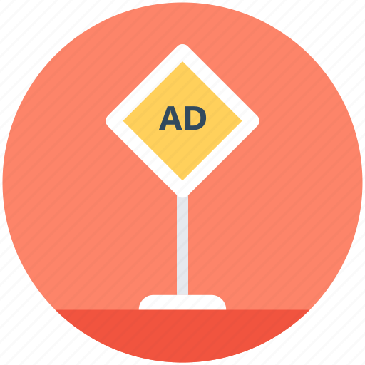 ad board, advertisement, road advertising, road billboard, road signage icon