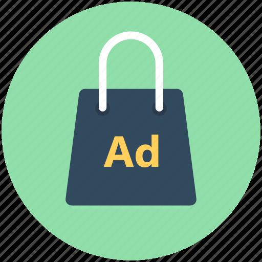 bag, bagvertising, purse, shopping ad, shopping bag icon