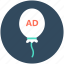 ad, balloon, balloon advertisement, marketing, promotion icon