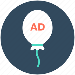 ad, balloon, balloon advertisement, marketing, promotion icon