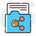 data exchanging, data sharing, data transfer, folder, folder sharing icon