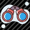 binocular, exploration, field glass, spyglass, view icon