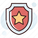 badge, defence, insignia, shield, shield badge icon