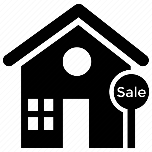 for sale, house auction, property sale, real estate, sale advertisement icon