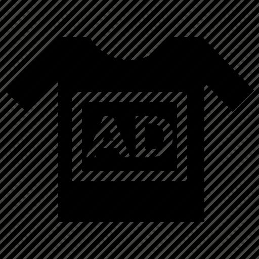 branding, clothing ad, shirt marketing, sponsored ads, tshirt ads icon