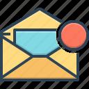 communication, envelope, inbox, message, notification, postage, reminder