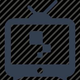 antenna, television, tv icon