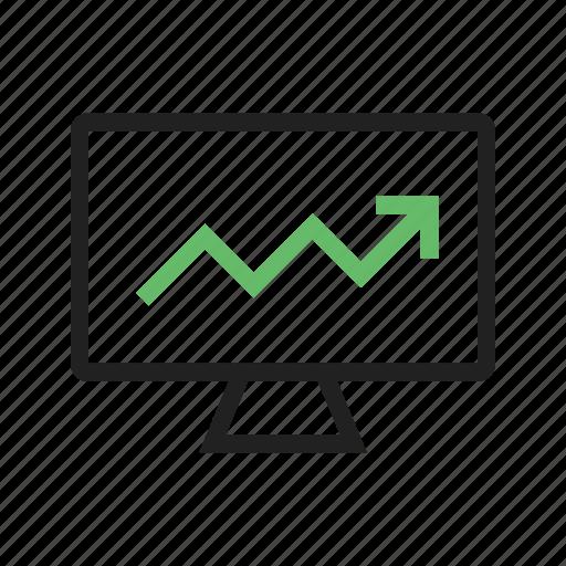 analysis, brand, business, company, dropbox, growth market, sign icon