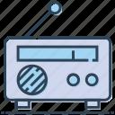 communication, listen, media, radio icon