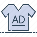 advertising, clothes, promotional shirt, shirt ad, t-shirt icon