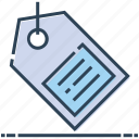commerce, label, price tag, shopping tag, tag icon