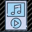 ios, ipod, media, mp4 player, music, walkman icon