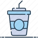 cold coffee, drink, juice, paper cup, smoothie, straw icon