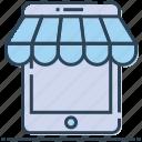 app, cellphone, mobile, mobile store, online shopping, shopping icon