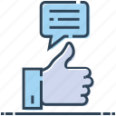 confirm, hand, like, message, ok, up thumb icon