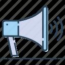 announcement, bullhorn, loudspeaker, megaphone, promotion icon