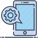 mobile settings, tool, cellphone, configuration, preferences, message, gear icon