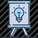 ads, advert, advertisement, advertising, billboard, bulb icon
