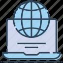 laptop, macbook, map, world, worldwide icon