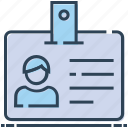 employee card, identification, identity card, student card, user card icon