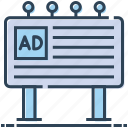 ad, advertisement, advertising, billboard, sign board icon