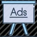 ad, advertisement, advertising, billboard, board, signboard icon