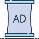 ad, advertisement, advertising, billboard, streets ads icon