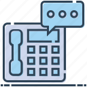 bubble, landline, message, phone, speech, telephone icon