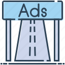 ad board, advertising, billboard, highway ad board, road advertisement icon